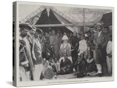 Visit of Lady Northcote to the Portuguese Health-Camp at Bombay--Stretched Canvas Print