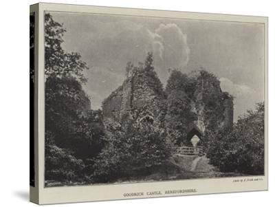 Goodrich Castle, Herefordshire--Stretched Canvas Print