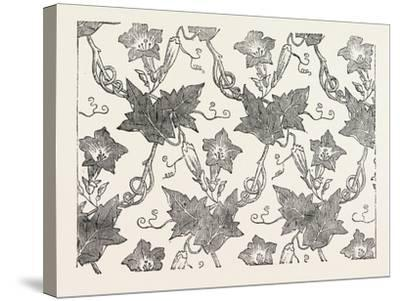 Convolvulus Silk Pattern, James Hill and Co., Spitalfields, London--Stretched Canvas Print