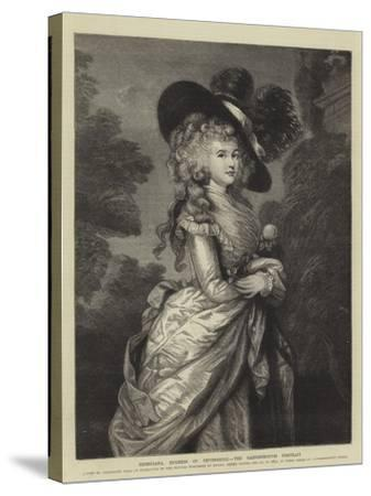 Georgiana, Duchess of Devonshire, the Gainsborough Portrait--Stretched Canvas Print