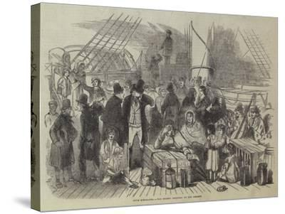 Irish Emigrants, the Recent Collision on the Mersey--Stretched Canvas Print