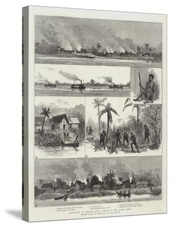 Operations of British Naval Forces on the River Niger--Stretched Canvas Print