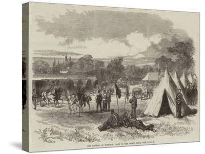 The Review at Windsor, Camp in the Great Park--Stretched Canvas Print