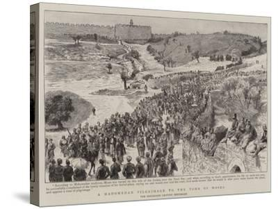 A Mahomedan Pilgrimage to the Tomb of Moses--Stretched Canvas Print