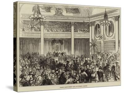 Grand Fancy-Dress Ball at Dublin Castle--Stretched Canvas Print