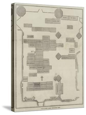 Plan of Poet's Corner, Westminster Abbey--Stretched Canvas Print