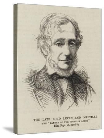 The Late Lord Leven and Melville--Stretched Canvas Print