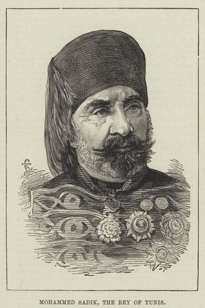 Mohammed Sadik, the Bey of Tunis--Stretched Canvas Print