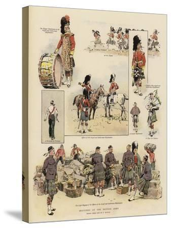Sketches of the British Army--Stretched Canvas Print