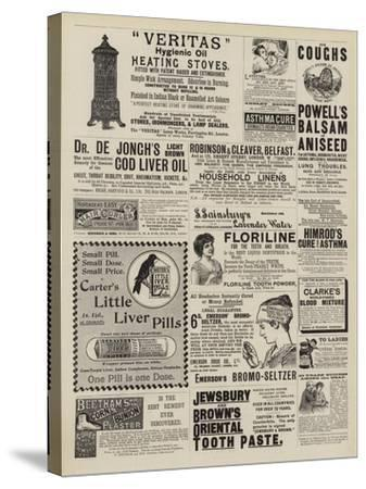 Page of Advertisements--Stretched Canvas Print