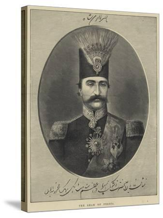 The Shah of Persia--Stretched Canvas Print