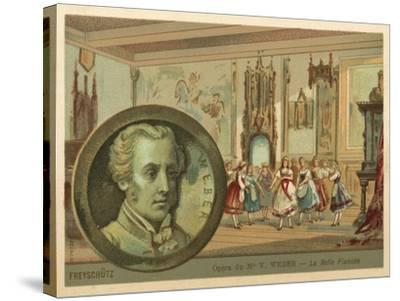 Scene from Carl Maria Von Weber's Opera Der Freischutz--Stretched Canvas Print