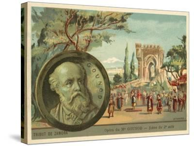 Scene from Charles Gounod's Opera Le Tribut De Zamora--Stretched Canvas Print
