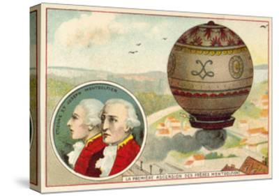 The Montgolfier Brothers First Balloon Ascent, 1783--Stretched Canvas Print
