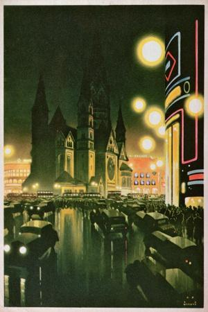 Postcard Depicting Berlin, C.1930-6--Stretched Canvas Print