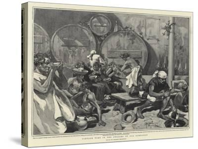 Vintage Time in the Cellars of Old Lombardy--Stretched Canvas Print