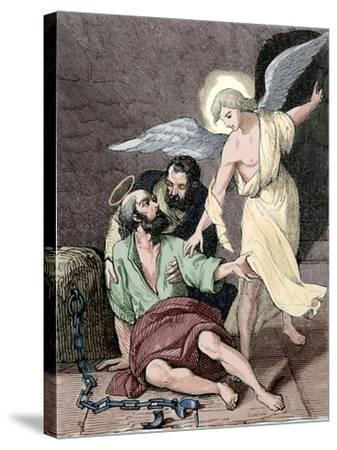 Saint Marcelino and Saint Peter, Martyrs, Rome, 304 Ad--Stretched Canvas Print
