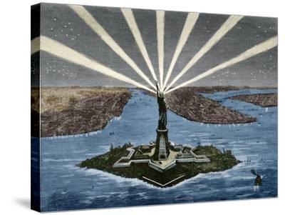 United States. New York. Statue of Liberty--Stretched Canvas Print