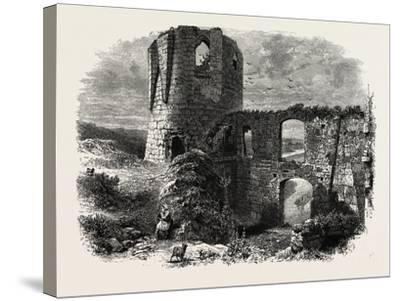 Chateau Gaillard, Normandy and Brittany, France, 19th Century--Stretched Canvas Print