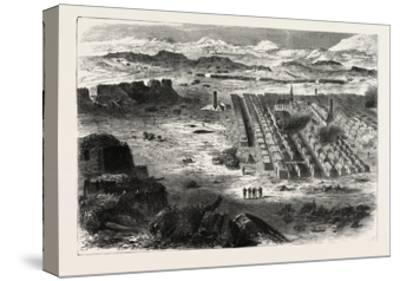 Franco-Prussian War: View of the Camp Pe Conlie Near Mans 1870--Stretched Canvas Print