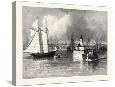 The Harbour-Mouth, Cobourg, Canada, Nineteenth Century--Stretched Canvas Print