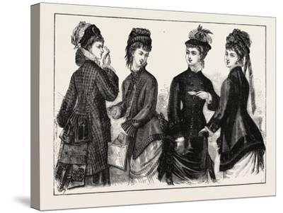 The Fashions: Ladies Cloaks for Autumn, 1876, UK--Stretched Canvas Print