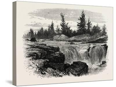Falls of the Passaic, New Jersey, USA, 1870s--Stretched Canvas Print