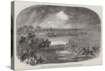 Inspection of the West Essex Yeomanry Cavalry, on Wanstead Flats--Stretched Canvas Print