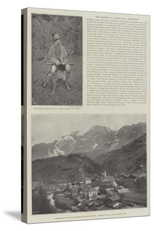 The Emperor of Austria as a Sportsman--Stretched Canvas Print