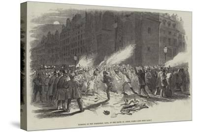Burning of the Electoral Lists, at the Porte St Denis, Paris--Stretched Canvas Print