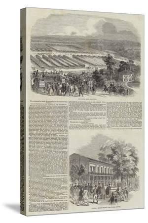Great Meeting of the Royal Agricultural Society at Southampton--Stretched Canvas Print
