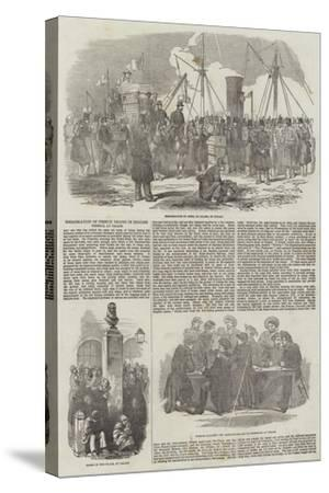 Embarkation of French Troops in English Vessels, at Calais--Stretched Canvas Print