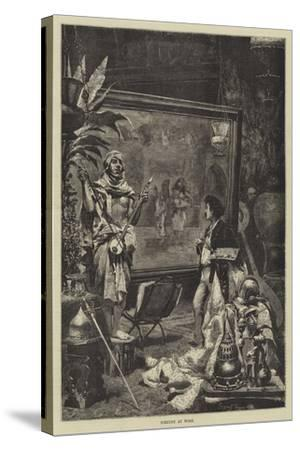 Fortuny at Work--Stretched Canvas Print