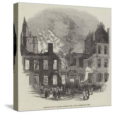 Remains in New Square, Lincoln's Inn, after the Recent Fire--Stretched Canvas Print