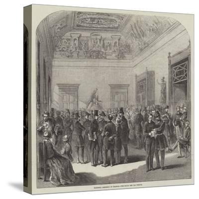 National Assembly of France, the Salle Des Perdus--Stretched Canvas Print