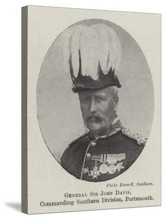 General Sir John Davis, Commanding Southern Division, Portsmouth--Stretched Canvas Print