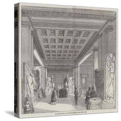 The Nineveh Room, at the British Museum--Stretched Canvas Print