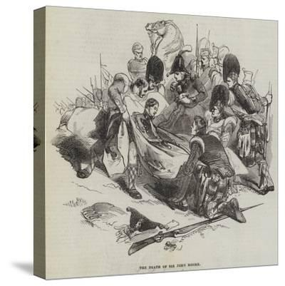 The Death of Sir John Moore--Stretched Canvas Print