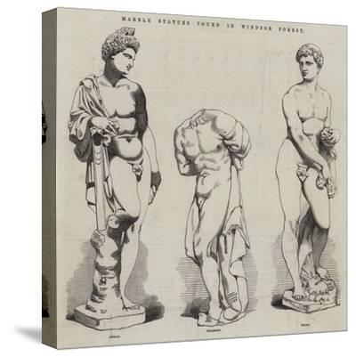 Marble Statues Found in Windsor Forest--Stretched Canvas Print