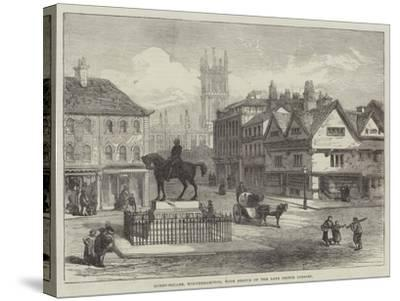 Queen-Square, Wolverhampton, with Statue of the Late Prince Consort--Stretched Canvas Print