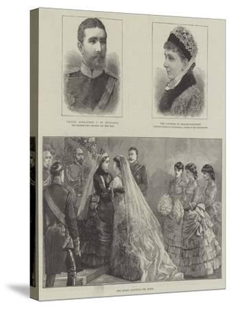 Royal Wedding of Princess Beatrice and Prince Henry of Battenberg--Stretched Canvas Print