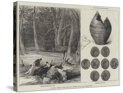 Ancient Roman Coins Found in Cobham Park, Near Gravesend--Stretched Canvas Print