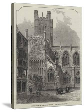 Restoration of Chester Cathedral, the South Transept--Stretched Canvas Print
