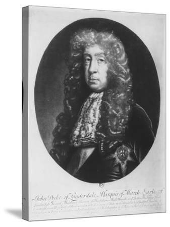 John Maitland, Duke of Lauderdale, Marquis of March--Stretched Canvas Print