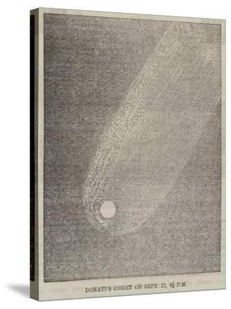 Donati's Comet on 17 September, 8 1/2 PM--Stretched Canvas Print