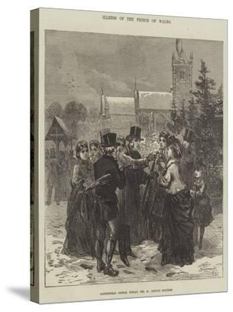 Illness of the Prince of Wales--Stretched Canvas Print
