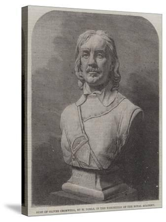 Bust of Oliver Cromwell--Stretched Canvas Print