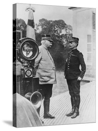 General Joffre and General Foch, 1914--Stretched Canvas Print