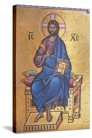 Mosaic Depicting Christ on Throne--Stretched Canvas Print