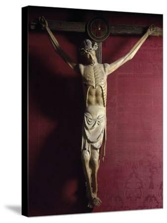 Wooden Crucifix, Sulmona Cathedral, Italy, Detail--Stretched Canvas Print